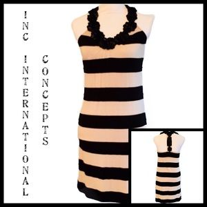 🌟HP🌟INC Int'l Concepts Sundress Tan/Blk Sz XS